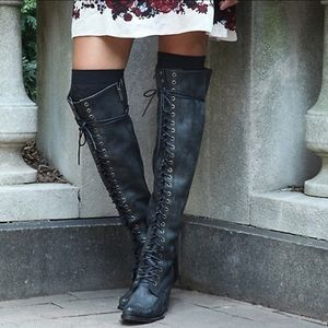 Free People x Jeffrey Campbell Joe lace up boot